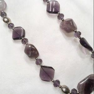 Jewelry - Amethyst Semi Precious Stone and Bead Necklace